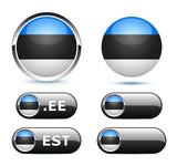drapeau Estonie / Estonia flag poster