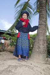 Asiatische Frau Yao von Laos