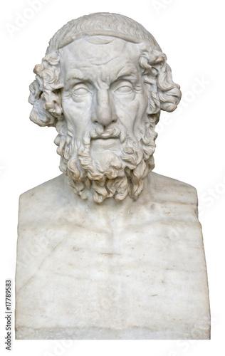 Staande foto Athene White marble bust of the greek poet Homer
