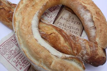 baguette française - couronne de pain