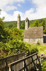 Saint Kevin Church   - symbol of Ireland at Glenadalough