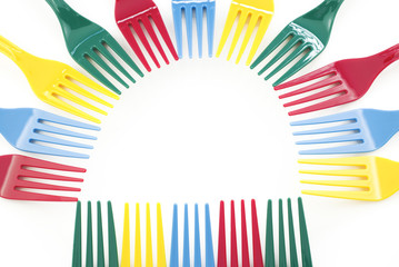 Colorful Plastic Forks Design