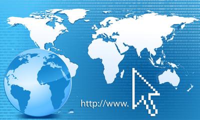 Weltkarte Binärcode