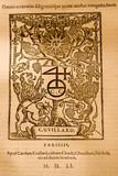 Medieval latin script poster
