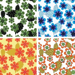 Vivid colorful repeating flower background