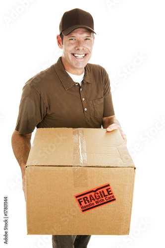 Cheerful Delivery Guy
