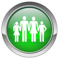 """""""Family"""" Button (green; vector)"""