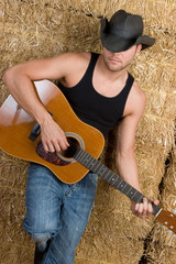 Country Boy Playing Guitar