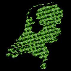 Netherlands binary map
