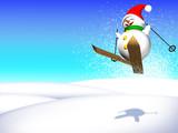Inverno Sfondo-Winter Snowman Background-Hiver Arrière Plan poster