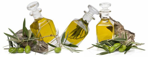 Boellas de aceite de oliva virgen extra.