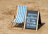 Deckchair for hire poster