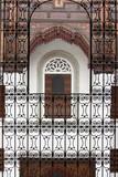 balcone della casa della musica a fez, marocco poster