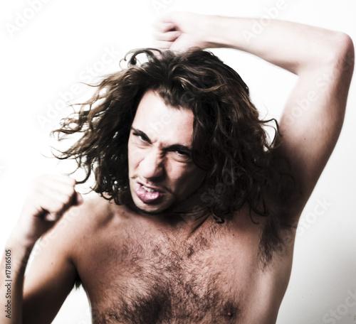quotjeune homme sauvage poiluquot photo libre de droits sur la