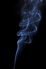 gray smoke from a cigarette on a white background isolated