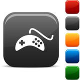 Gamepad icon set. Vector illustration poster
