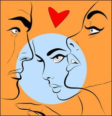 conflit amoureux homme,femme et amant