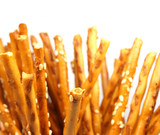 salty sticks on white background poster