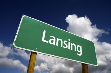 Lansing Green Road Sign