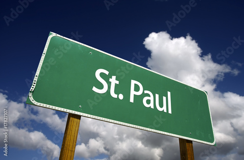 St. Paul Green Road Sign