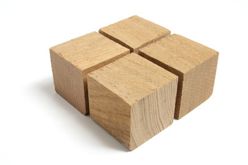 Arrangement of Wooden Blocks