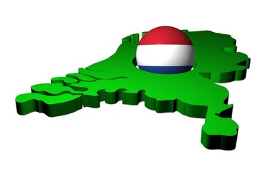 Dutch flag sphere with map