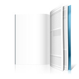 Blank magazine page. Vector. Insert your graphics. poster