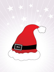 illustration, vector santa's cap