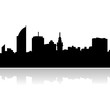 montevideo skyline vector