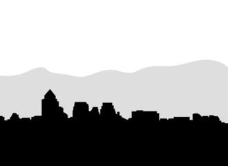 santiago of chile vector skyline