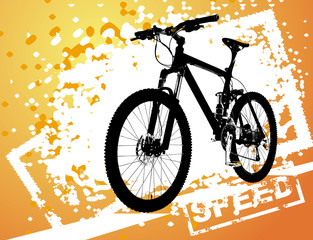 Vector illustration of bicycle on abstract background