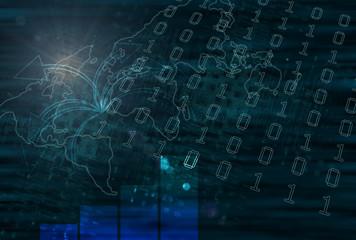 Tech Business World Map