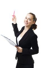 Woman make presentation
