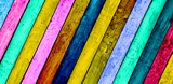 Colorful Diagonal Wood Planks Background