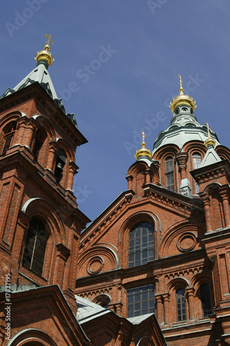 The Uspenski Russian Orthodox cathedral in Helsinki, Finland
