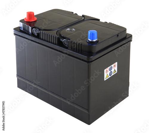 Leinwanddruck Bild car battery