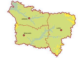 Plan de Picardie épuré