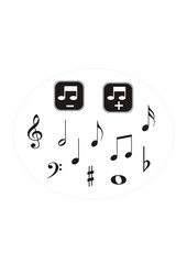 vector collection of musical notes