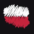 Polonia mappa bandiera