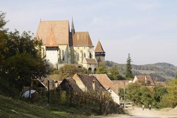 Kircchenburg von Birthälm in Rumänien