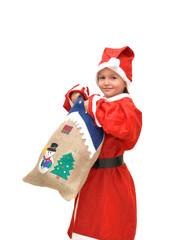 bimba travestita da Babbo Natale