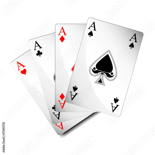 picture of aces cards vector