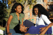 Pregnant Girl  Relaxing wit Friends