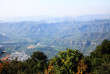 The scenery of Yun-Tai Mountain, a World Geologic Park poster