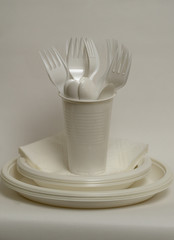Disposable tableware set