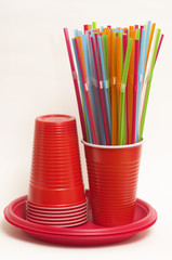 Party disposable tableware set
