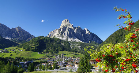 Das Panorama von Corvara - Südtirol