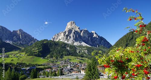 Leinwandbild Motiv Das Panorama von Corvara - Südtirol