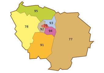 Plan de l'Ile de France