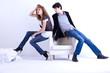 jeune couple homme et femme